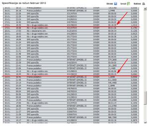 Simobil - Račun - Februar 2013 (p1)