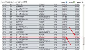 Simobil - Račun - Februar 2013 (p2)