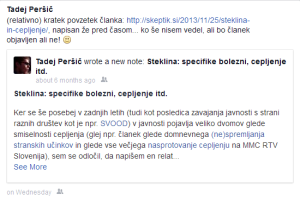 Facebook - Steklina - Note