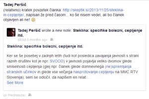 Facebook - Steklina - Note